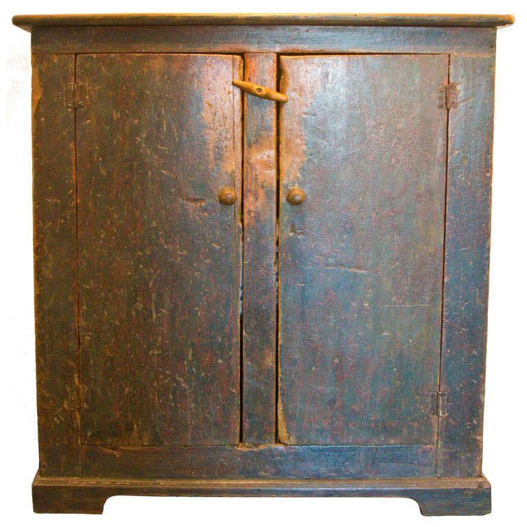 19th Century Quebec Province Two Door Cupboard 1stdibs Com Vintage Cupboard Primitive Homes Primitive Furniture