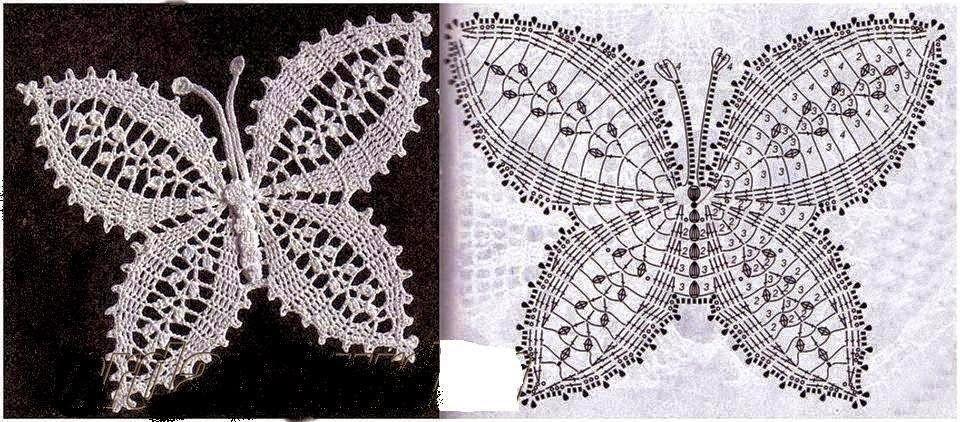 Hermosas mariposas tejidas con ganchillo para decorar tus prendas ...