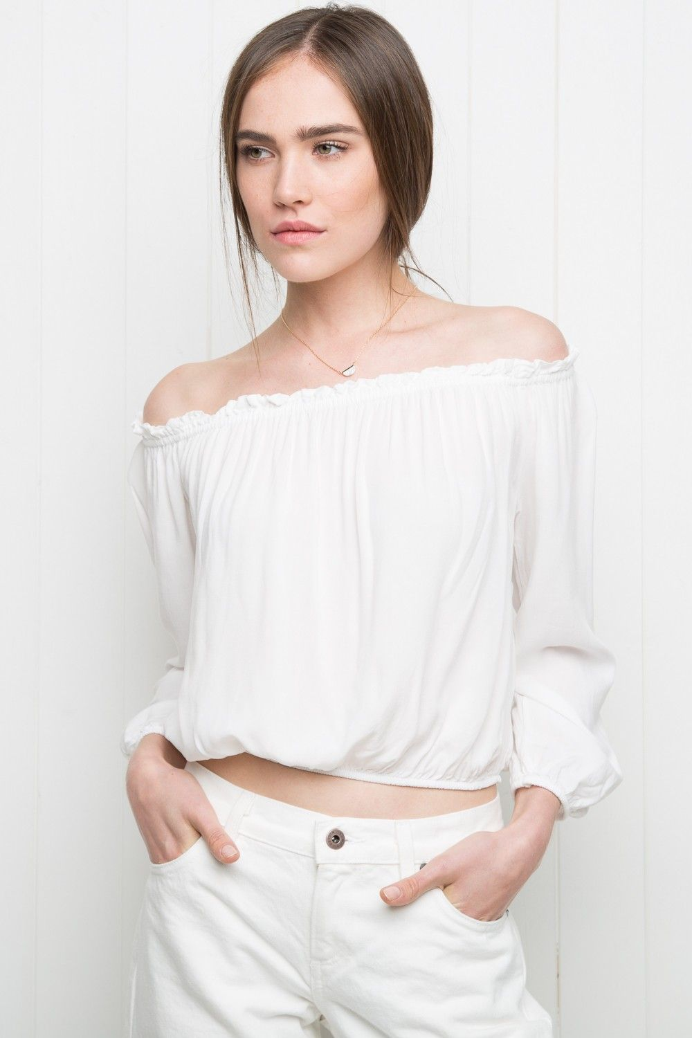 2309b4a35b5 Brandy ♥ Melville | Maura Top - Off-the-shoulder - Clothing | pls ...