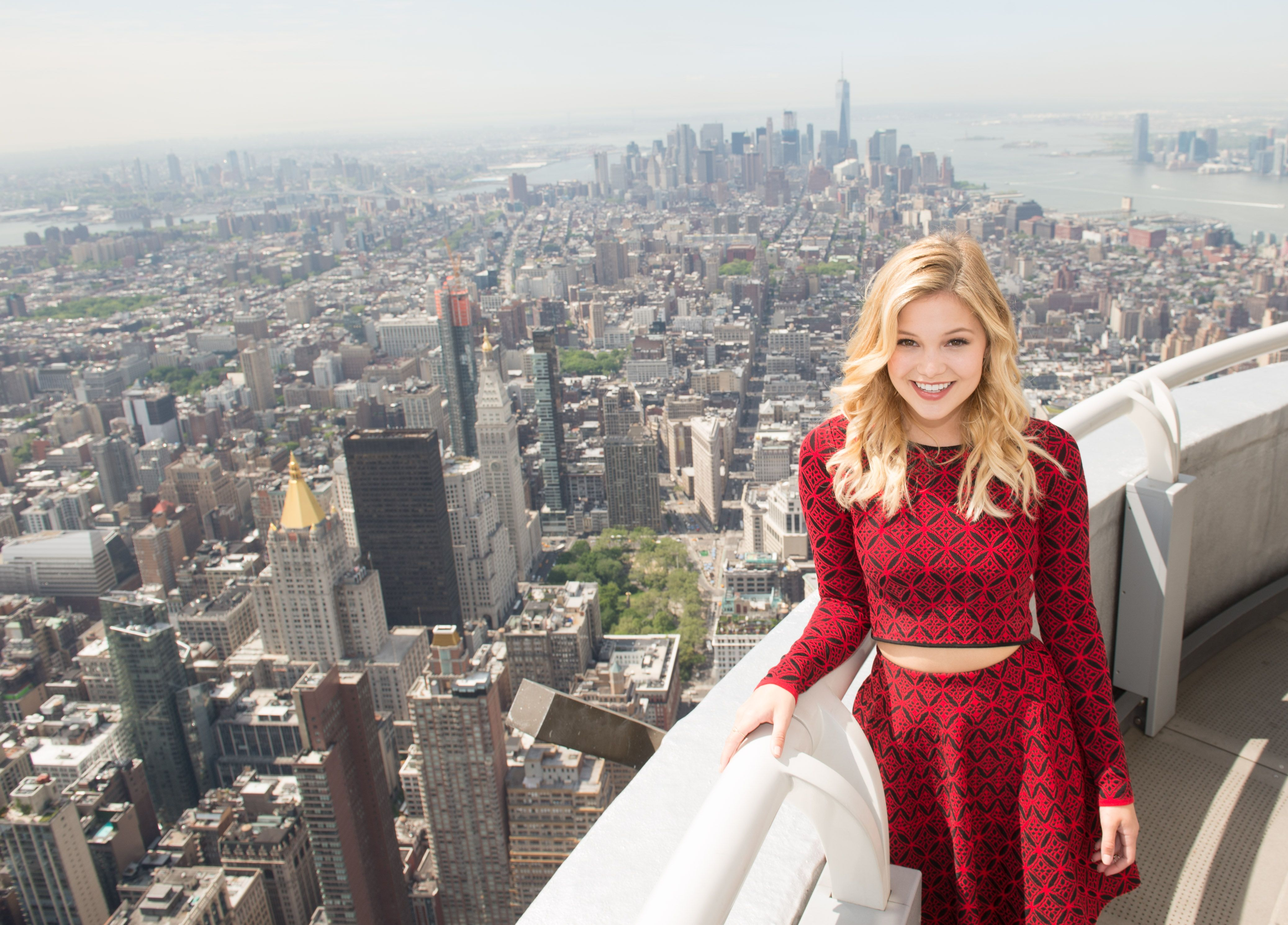 May 19 2016 actress and singer oliviahholt rises above for 103rd floor empire state building