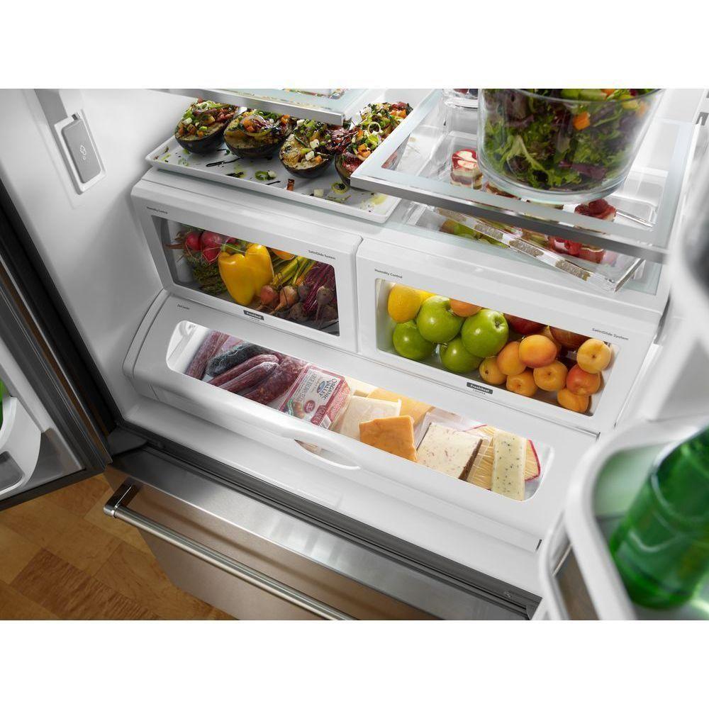 Kitchenaid 219 cu ft french door refrigerator in black