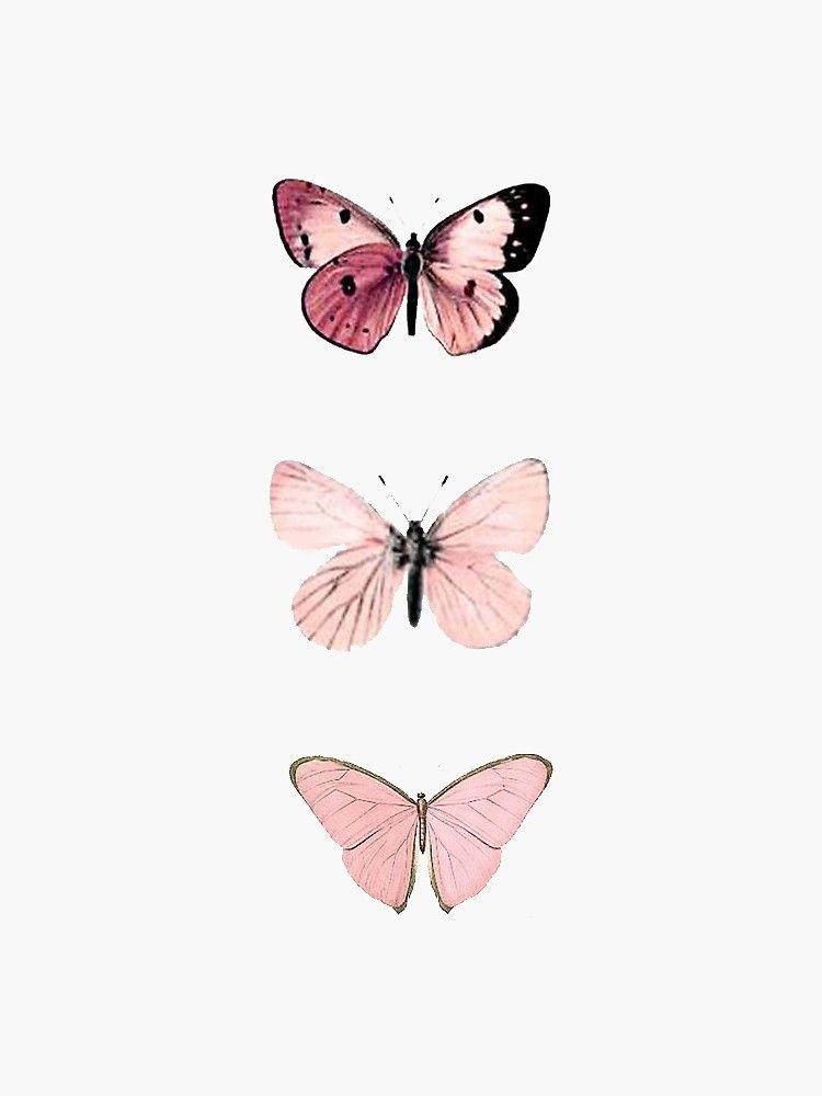 Pink Butterflies Sticker By Haleyerin In 2020 Butterfly Wallpaper Iphone Pastel Pink Aesthetic Cute Patterns Wallpaper