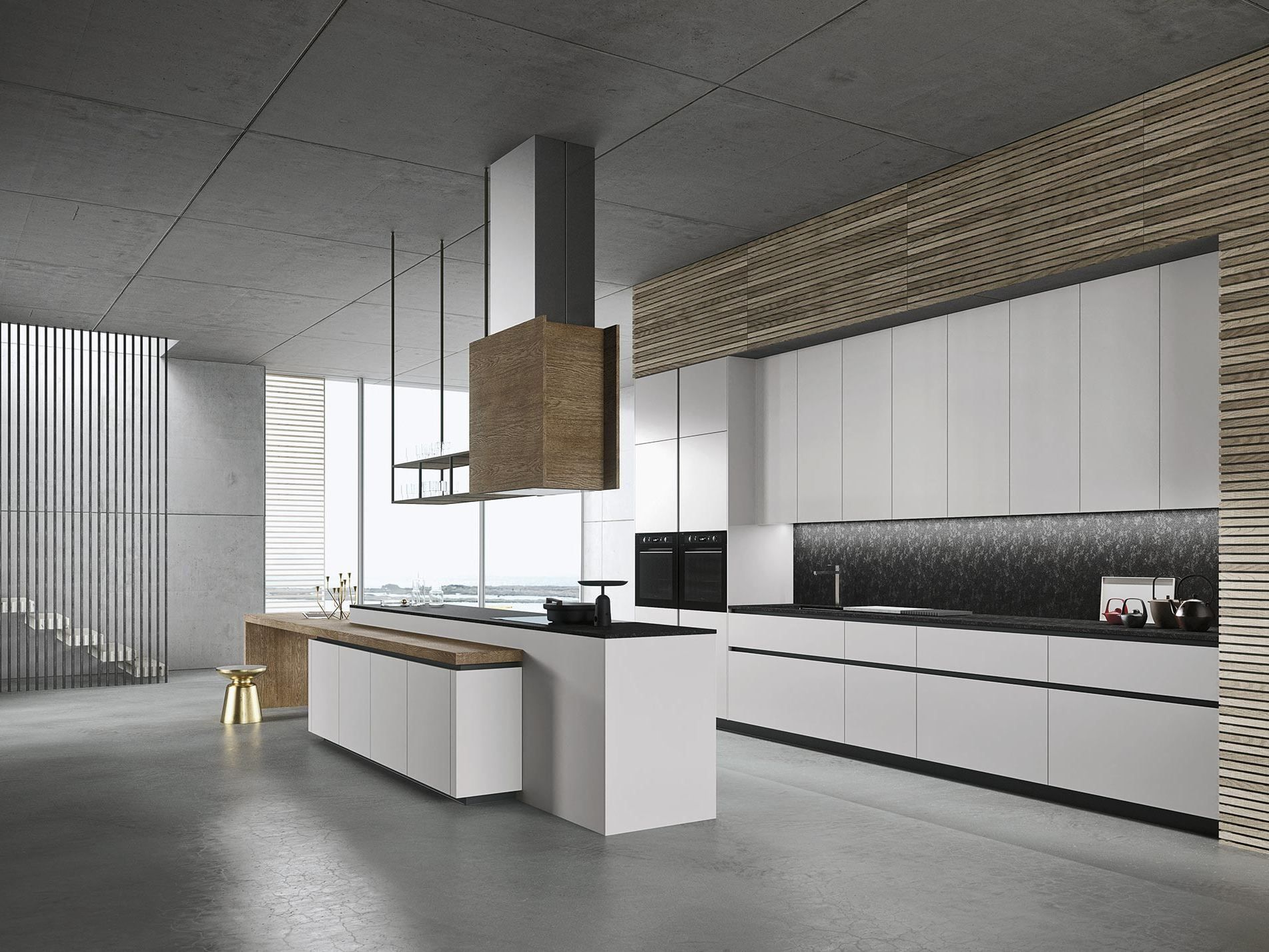 LOOK Kitchen with island SISTEMA Collection by Snaidero design