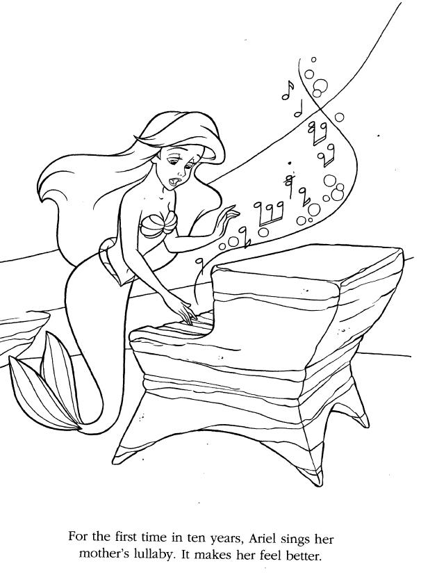 Coloriage La Petite Sirène 1 ċoʟoя Mє Ariel Coloring Pages