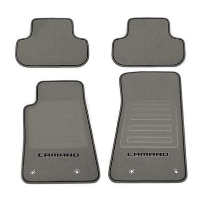 Chevrolet Camaro Floor Mats Front And Rear Premium Carpet Premium Carpet Titanium Carpet Black Camaro Logo Blac Black Camaro Camaro Chevrolet Accessories