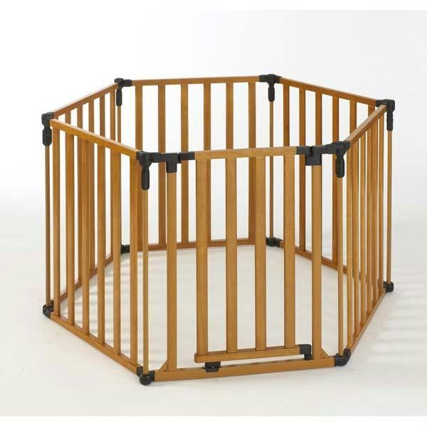 north states 3 in 1 wood superyard 6 panel 24 x 30 - Baby Gate For Christmas Tree