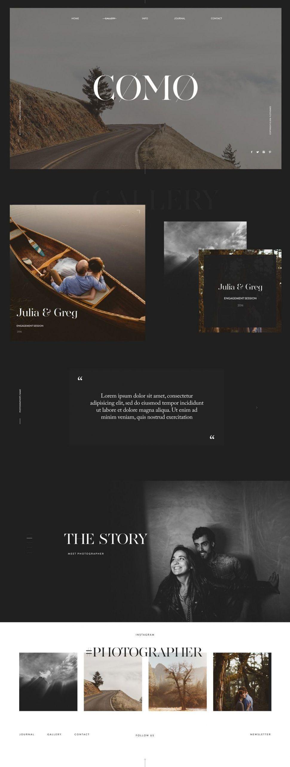 Anpassbare Fotografie Website Vorlagen 2020 In 2020 Photography Website Templates Wordpress Website Design Website Design Layout