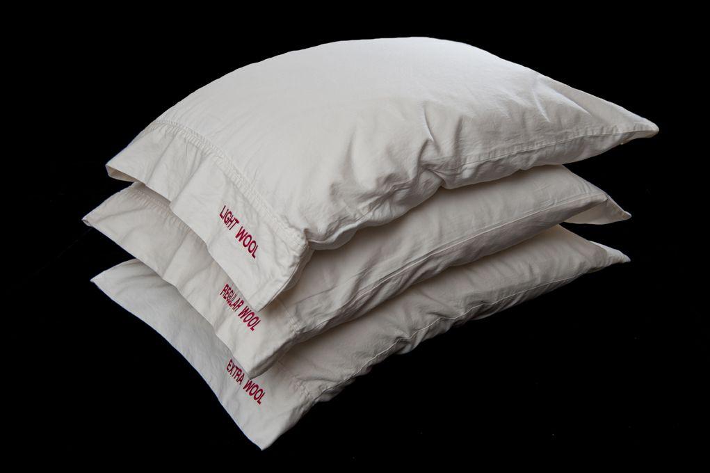Organic Natural Wool Pillow   Wool