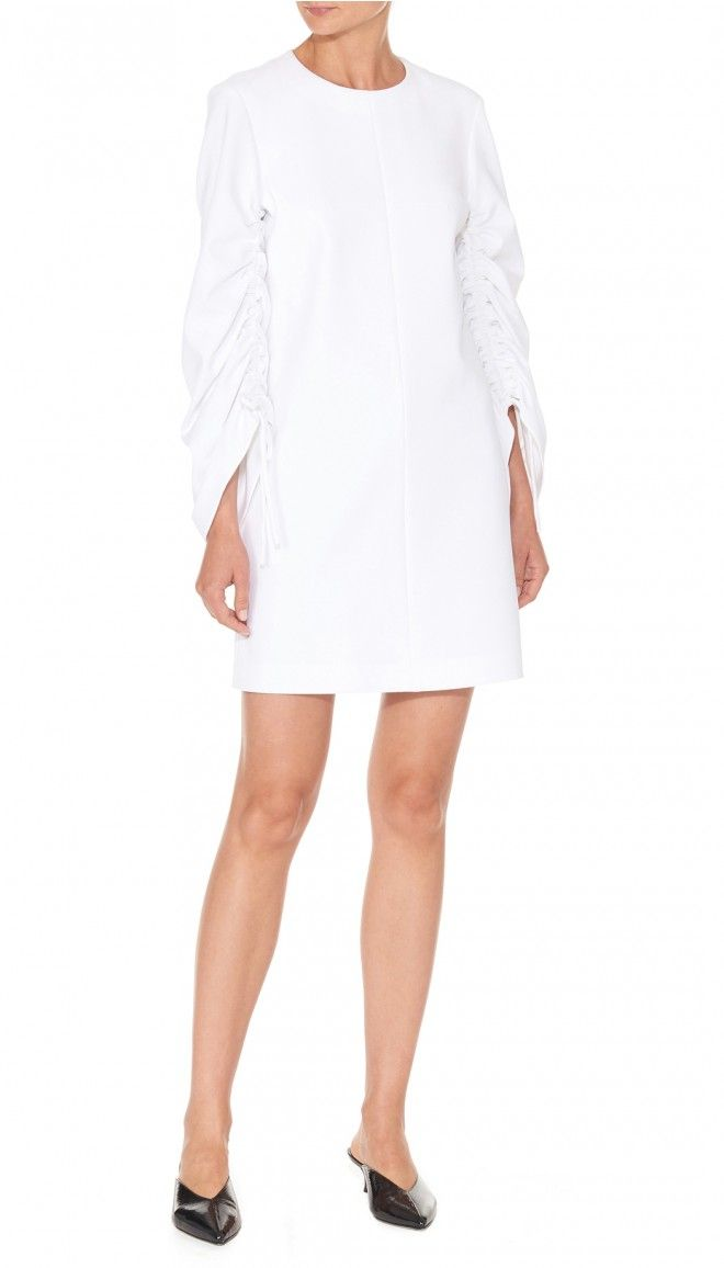 Cut-Price structured crepe dress - White Tibi Quality From China Cheap Buy Cheap Inexpensive Sale Manchester Co3so3t
