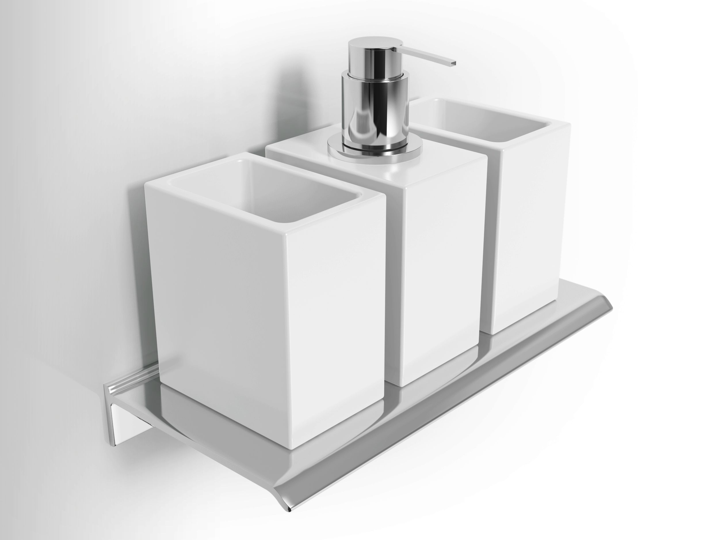 Wall Mounted Soap Dispenser And Toothbrush Holder