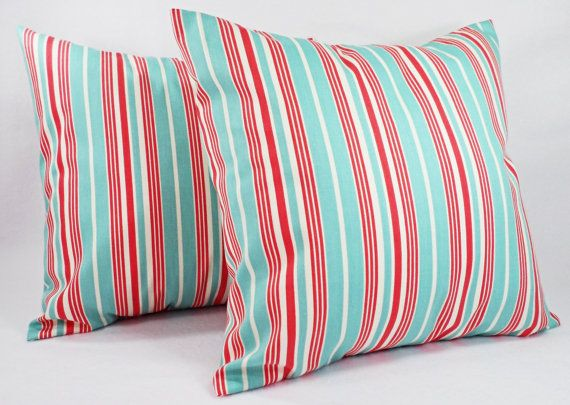 Striped Pillow Covers - Etsy Two Pillow Covers in by ...