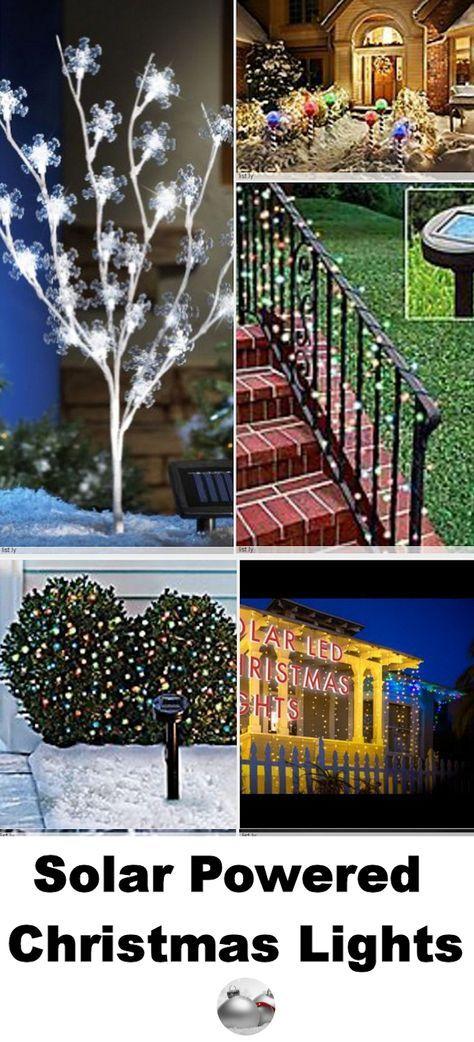 Solar Powered Christmas Lights | Solar powered christmas ...