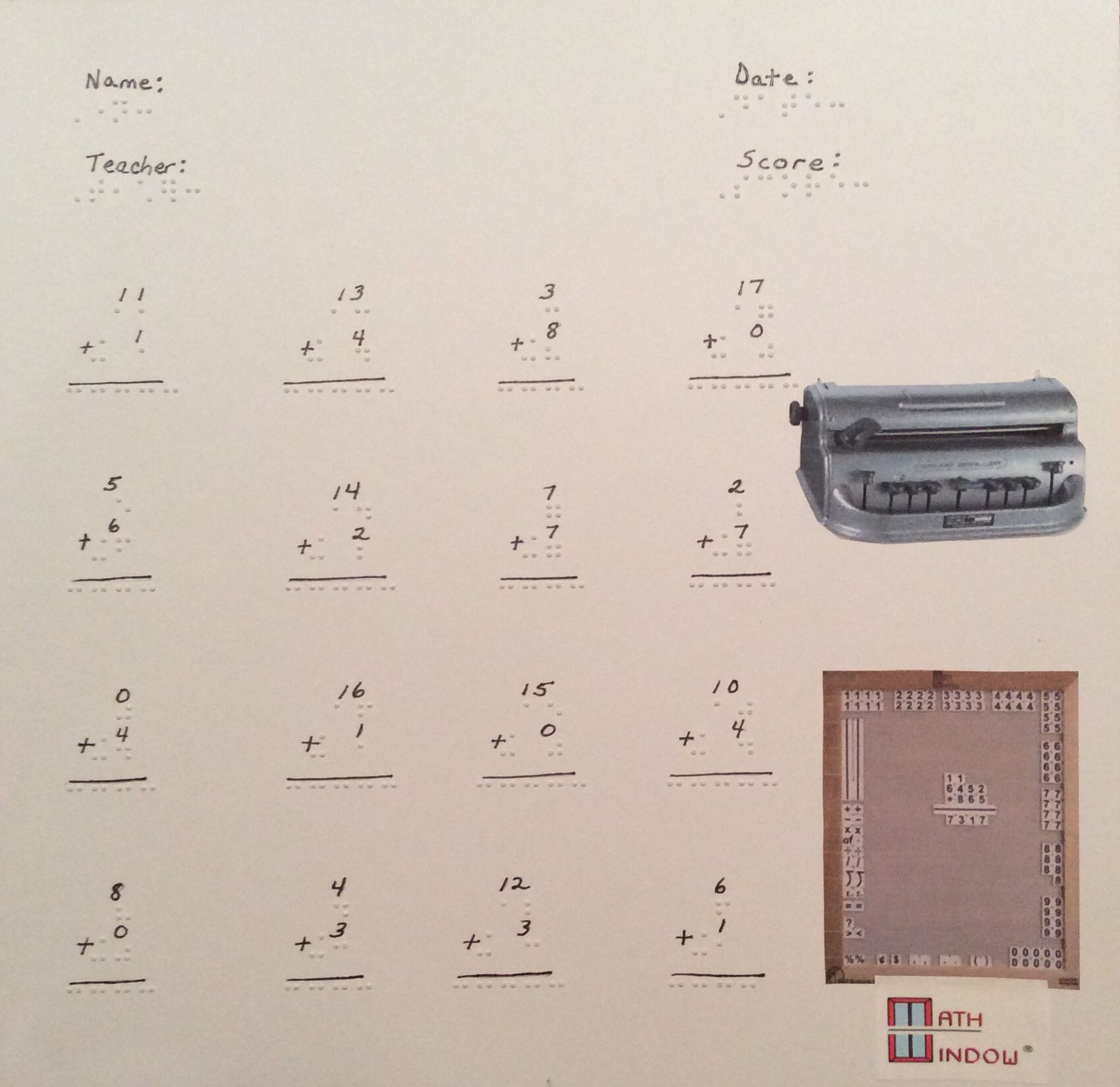 Simple teacher math worksheets-Practice vertical and spatial math ...