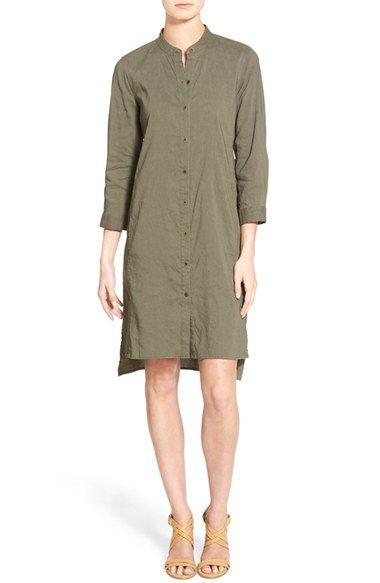 bc5b716d58e7 Eileen Fisher Organic Linen Blend Mandarin Collar Shirtdress available at # Nordstrom