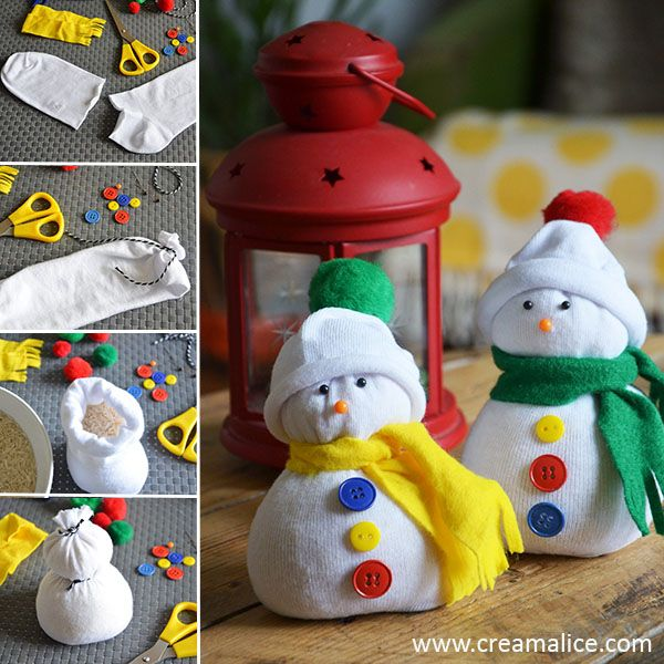diy bonhomme de neige r cup avec une simple chaussette noel snowman and craft. Black Bedroom Furniture Sets. Home Design Ideas