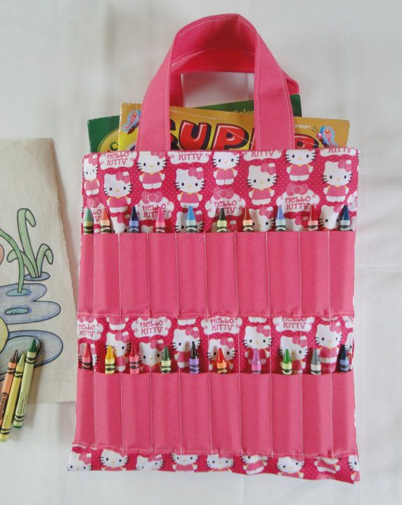 e16321514 Pink Hello Kitty Coloring Book and Crayon Holder by Shoppebylola, $20.00