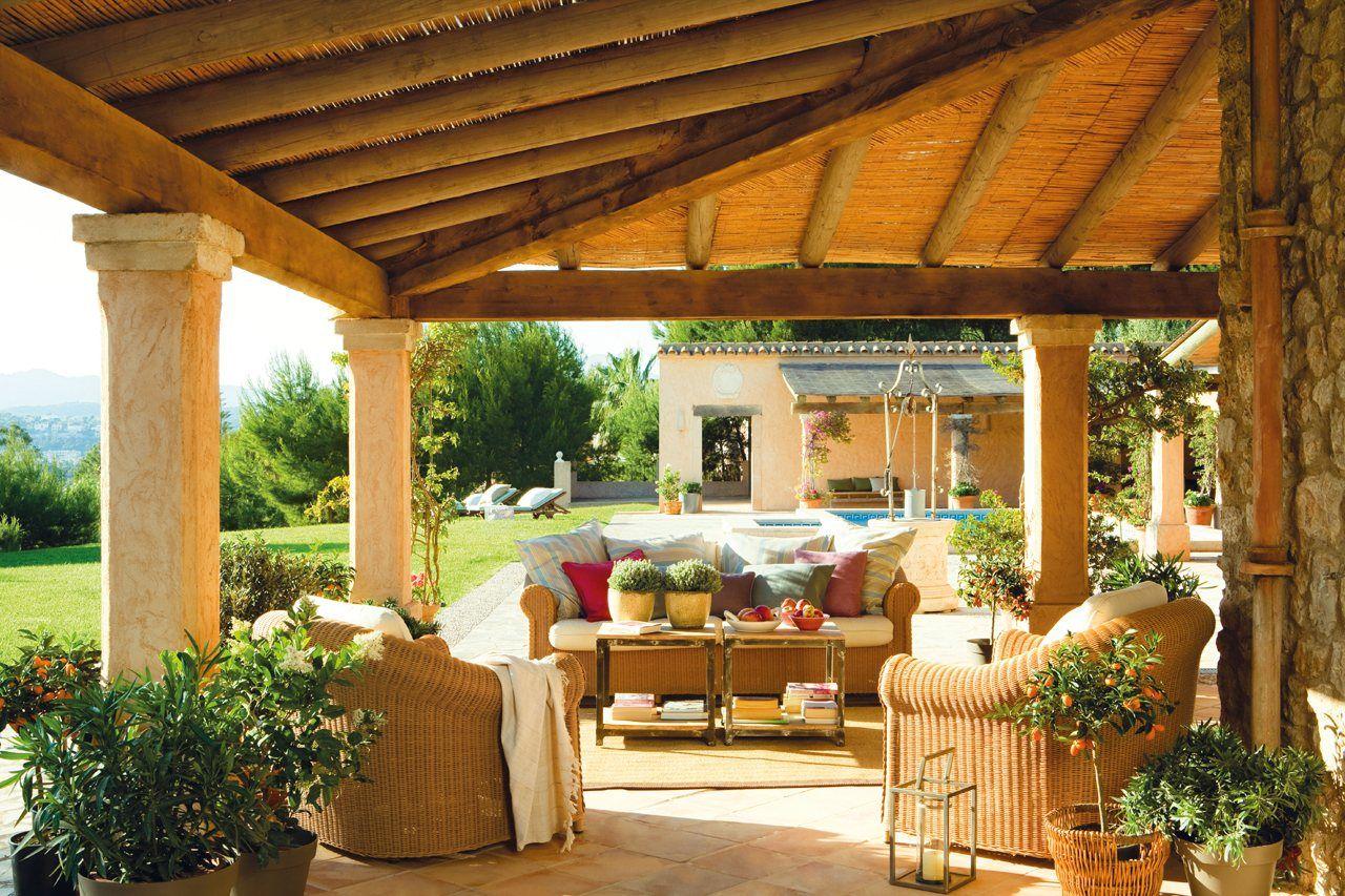Un estar de verano muy confortable en 2019 design - Casas de campo el mueble ...