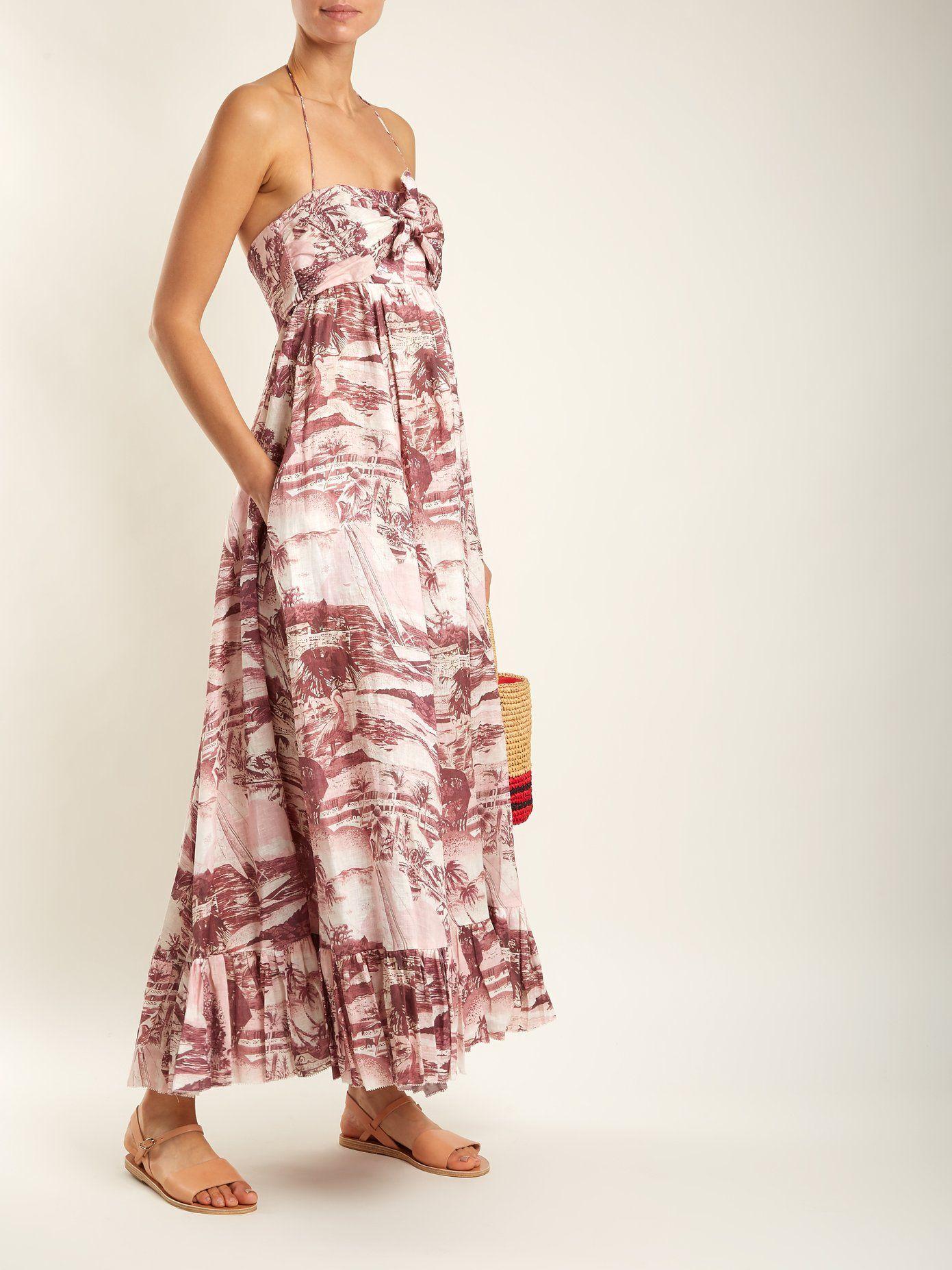 896e3b02fb Kali Hawaiian-print linen dress