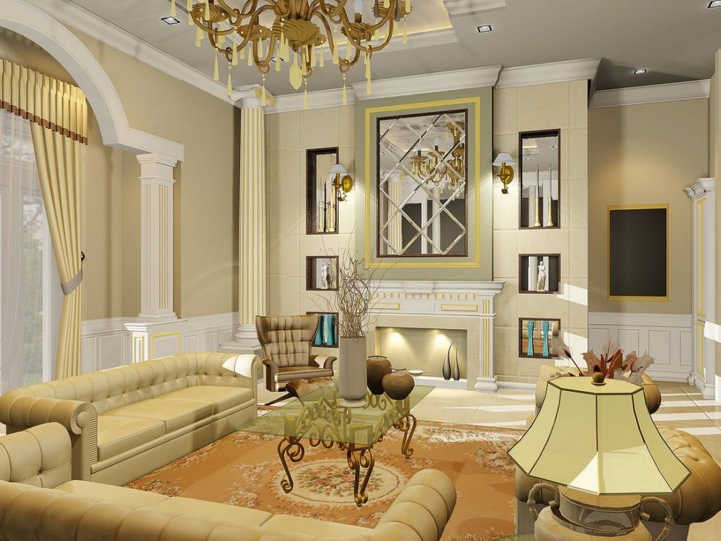 Info: You are viewing Classic Living Room Interior Design with Beautiful  Lamp, Is one of the post that listed in the Livingroom Design categ.