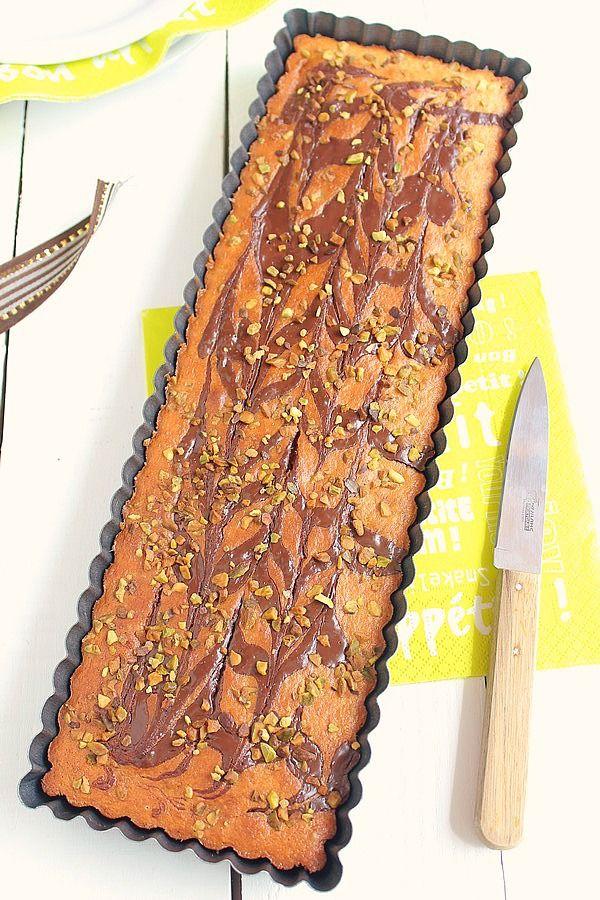 Moelleux à l'Amande Zébré Chocolat & Eclats de -copie-11