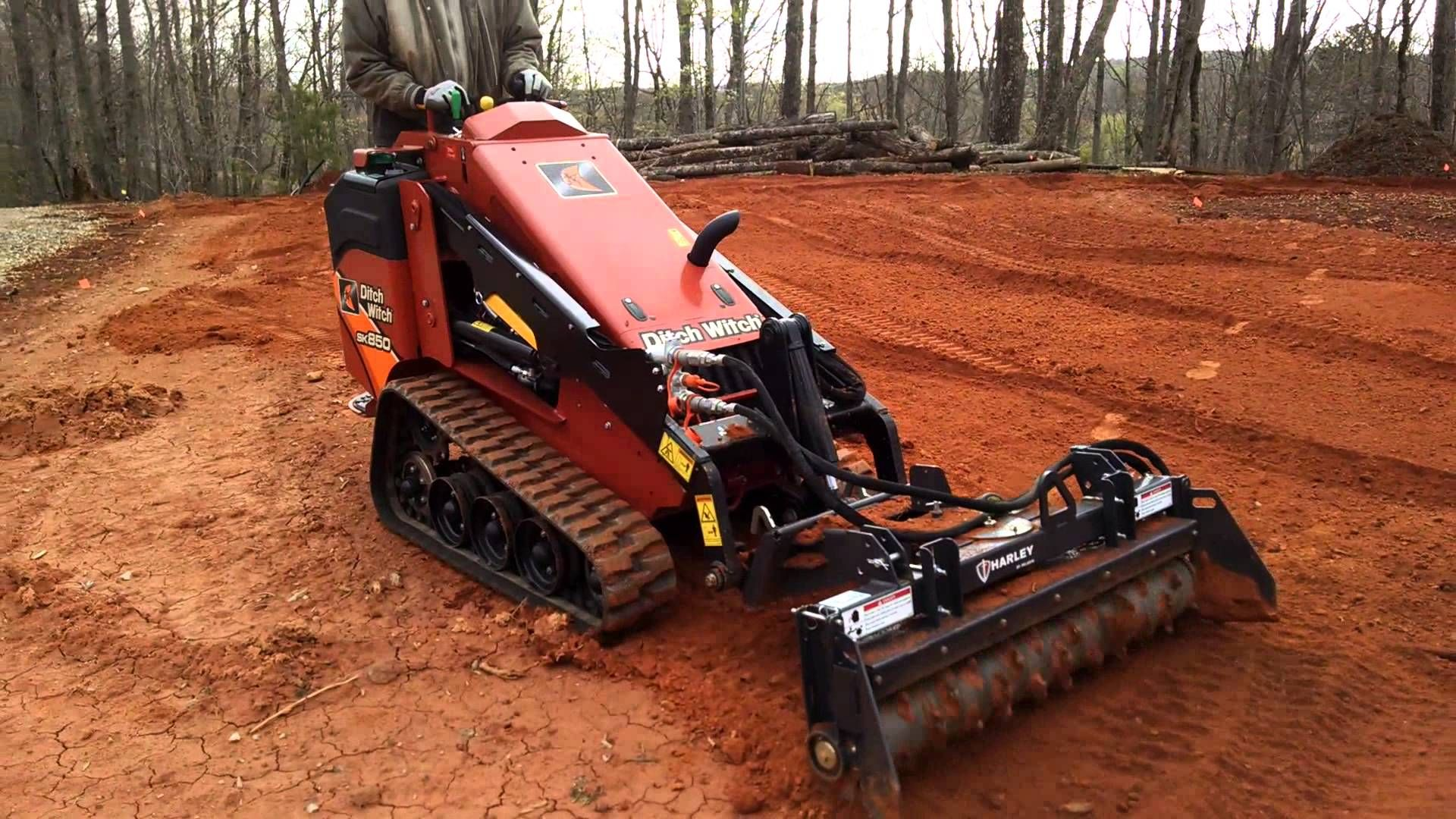 Ditch Witch SK850 Mini Skid Steer with Harley Rake #canI Attachment