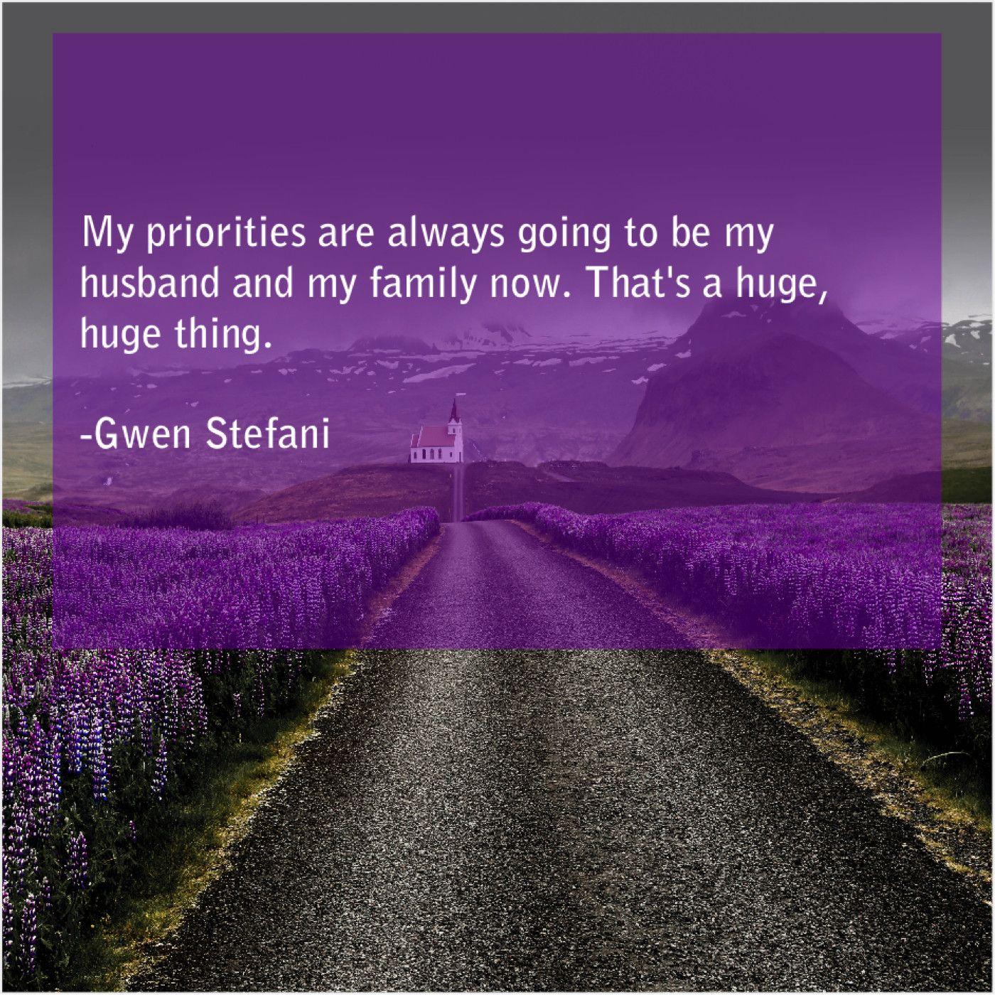 Gwen Stefani My Priorities Are Always Going Elizabeth Edwards Saul Bellow Alice Walker