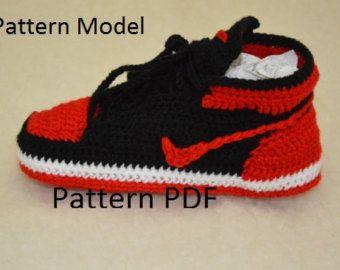 761c848b7d44 CROCHET PATTERN Nike Air Jordan 3 Crochet Baby por HouseSneakers
