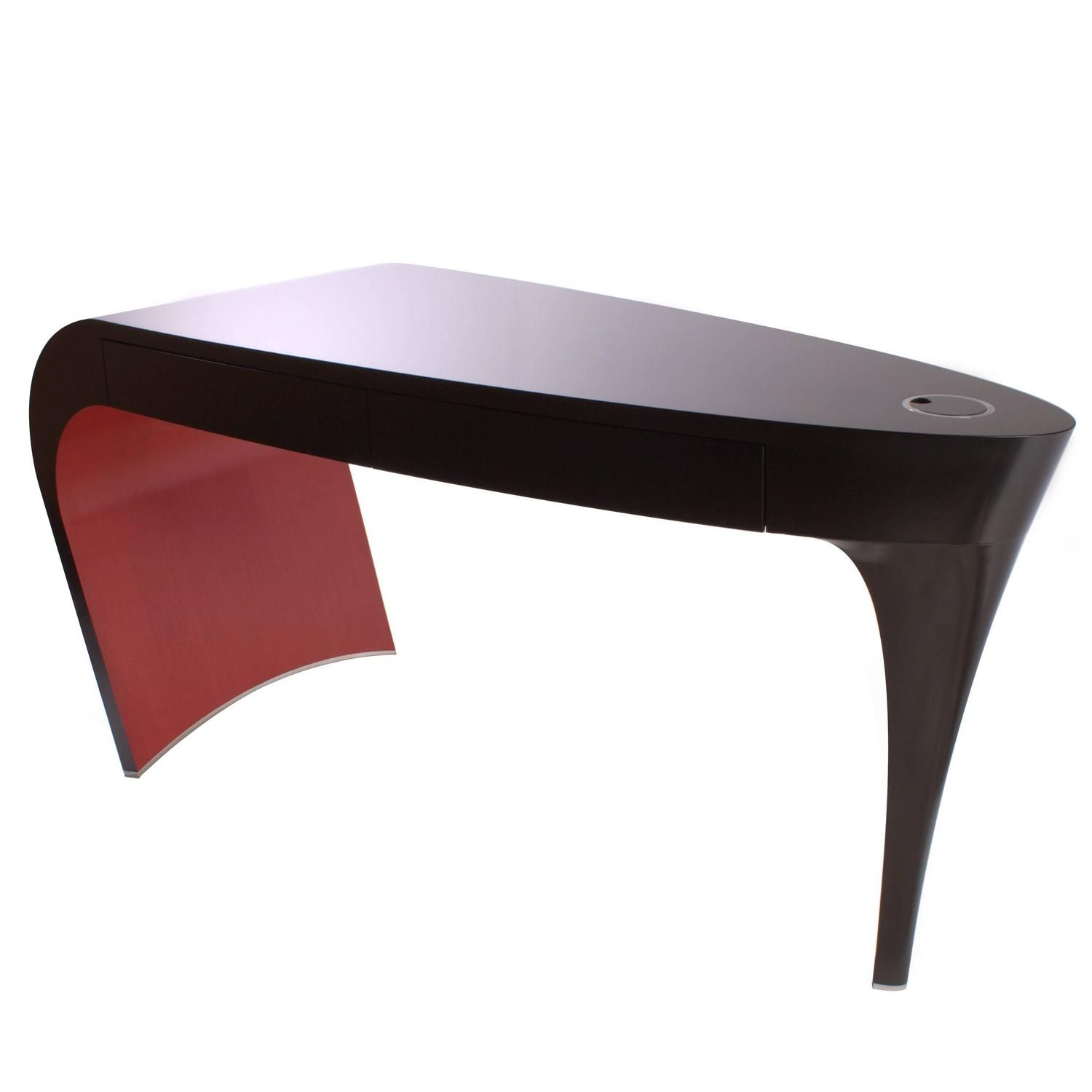Awesome Black Lacquer And Red Contemporary Stiletto Shoe Desk Or Dressing Table  Vanity