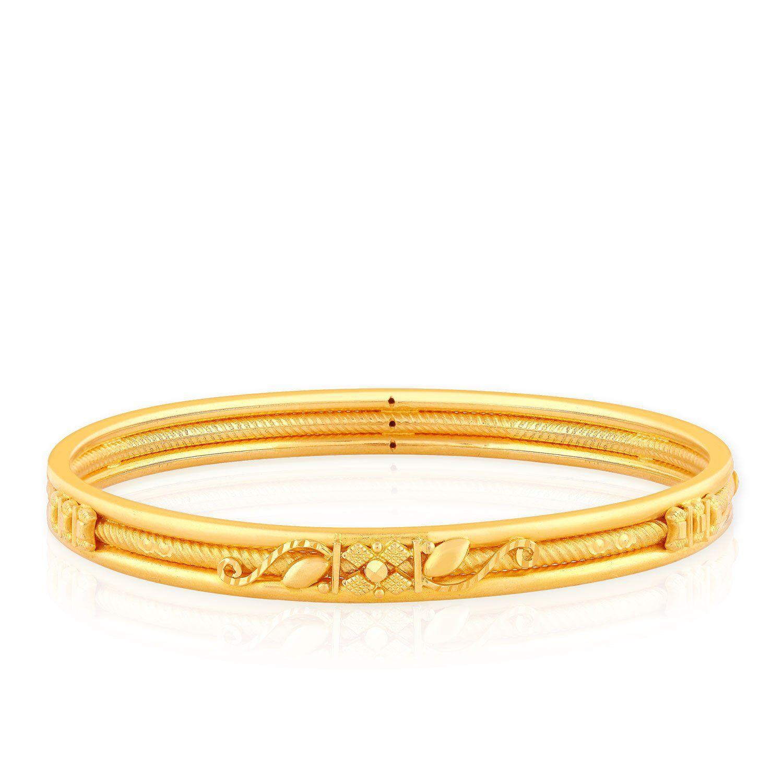 eb12d0055 Malabar Gold and Diamonds 22k Yellow Gold Bangle | Jewelry in 2019 ...