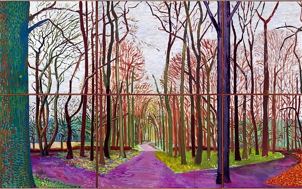 David Hockney landscapes in reality more like rubbish tips