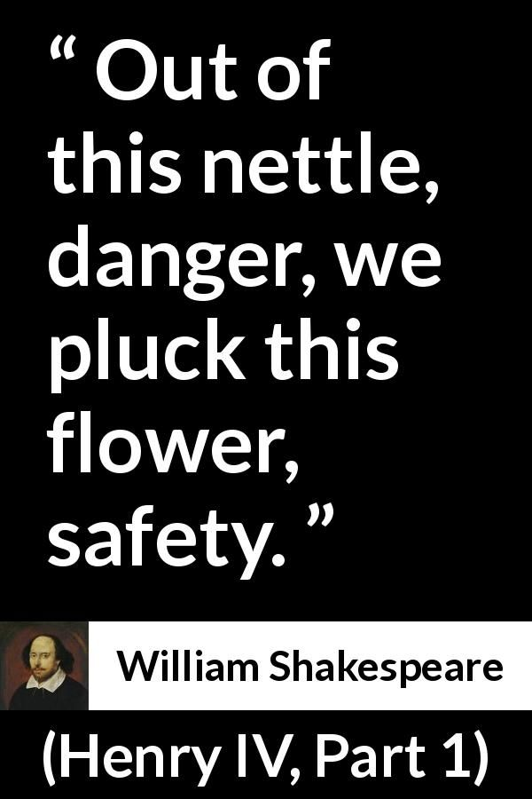 "William Shakespeare about flower ""Henry IV Part 1"" 1597"