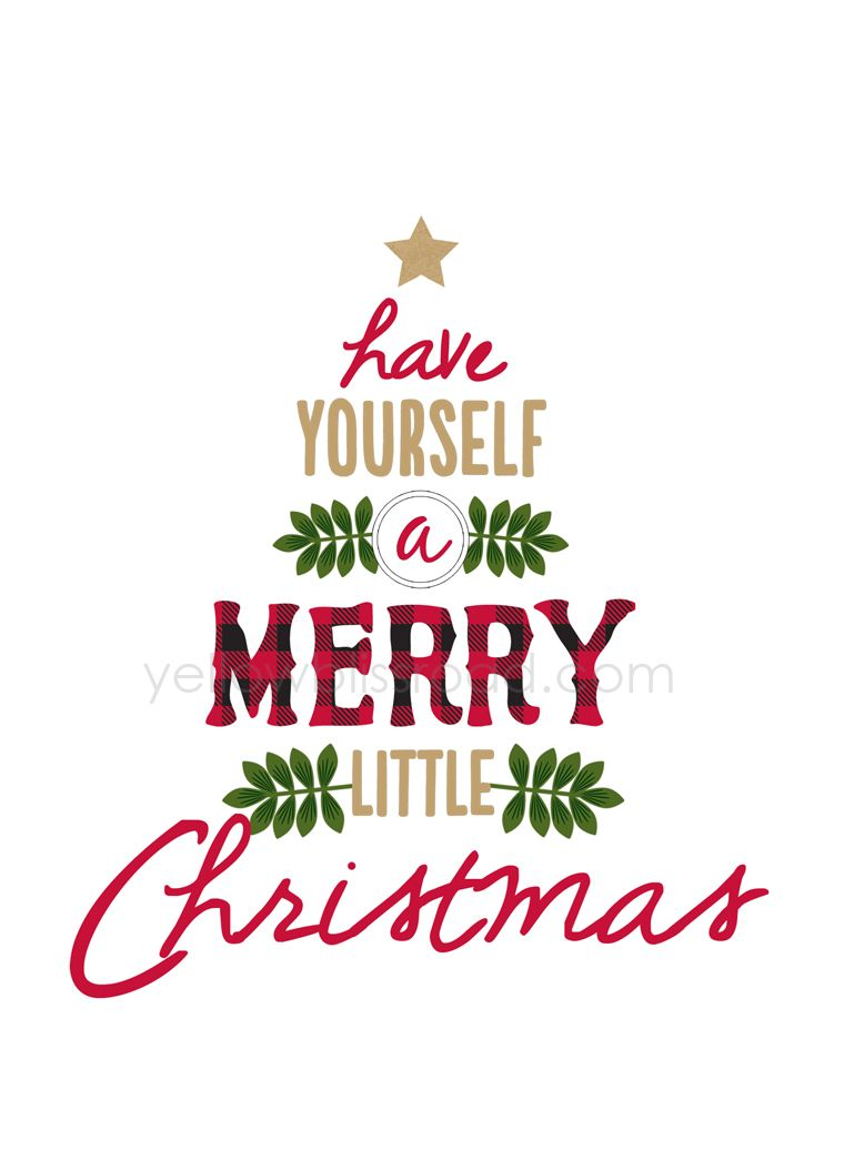 have yourself a merry little christmas printable - Merry Little Christmas