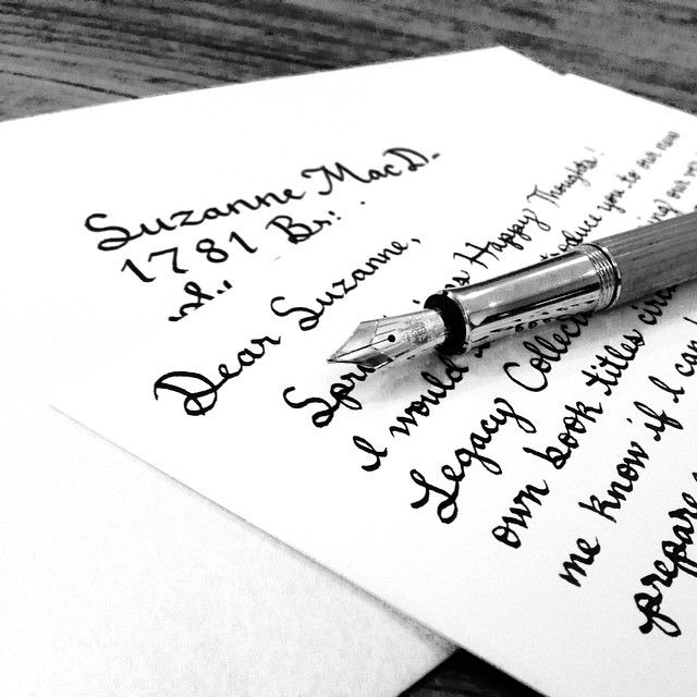 Doing what we do best #writing #letters #correspondence #handwriting #calligraphy #handlettering #fountainpen