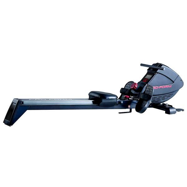 Work your upper and lower body at once with the 440R Rower by ProForm. This great dual-action cardio workout is enhanced with an ergonomic design, including pivoting pedals, adjustable foot straps, molded seat, and a soft-touch handle.
