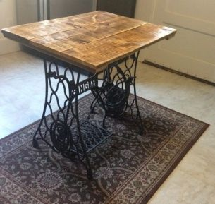 we combined 4 sets of old singer sewing machine drawers and a 100 year old cutting board to make. Black Bedroom Furniture Sets. Home Design Ideas