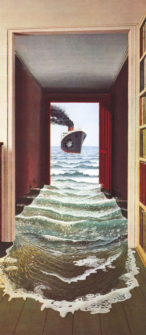Le Secret Trompe L Oeil Door Mural Wallpaper 1 Part 548 Children S Wallpaper Realismo Magico Artistas Canadenses Arte Surrealista