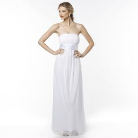 JOLIE Strapless Charmeuse Wedding Gown