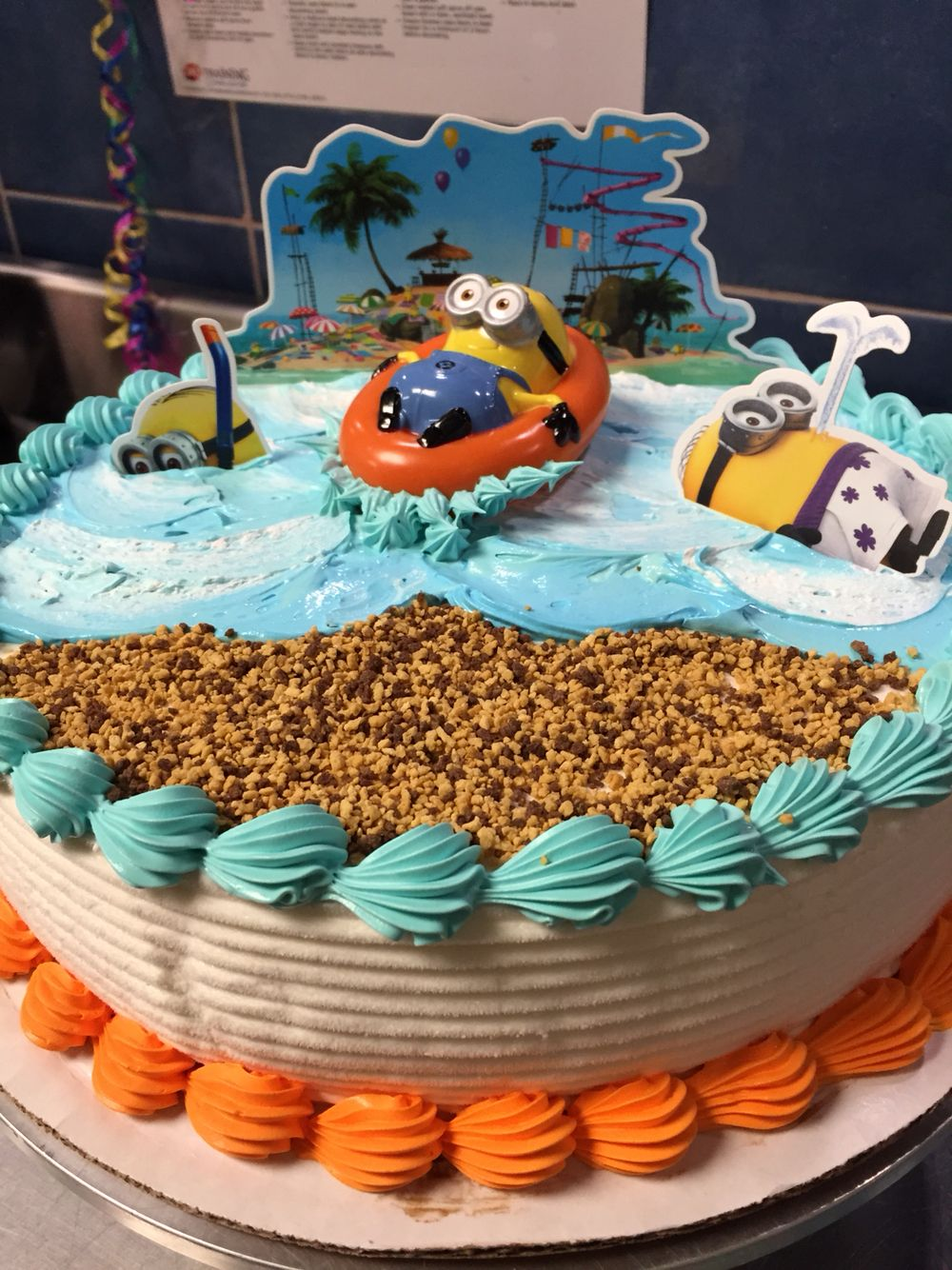 Dairy Queen Minion Frozen Ice Cream Cake
