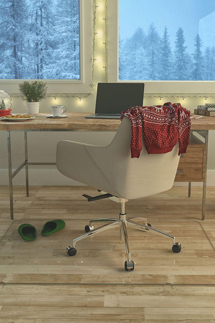 "42"" x 64"" Glass Chair Mat with Protective Nanotech"