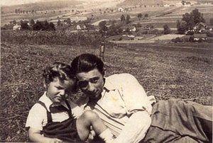 Yad Vashem: Maehr Ostrau, Czechoslovakia, Leo Lerner with a child before the war