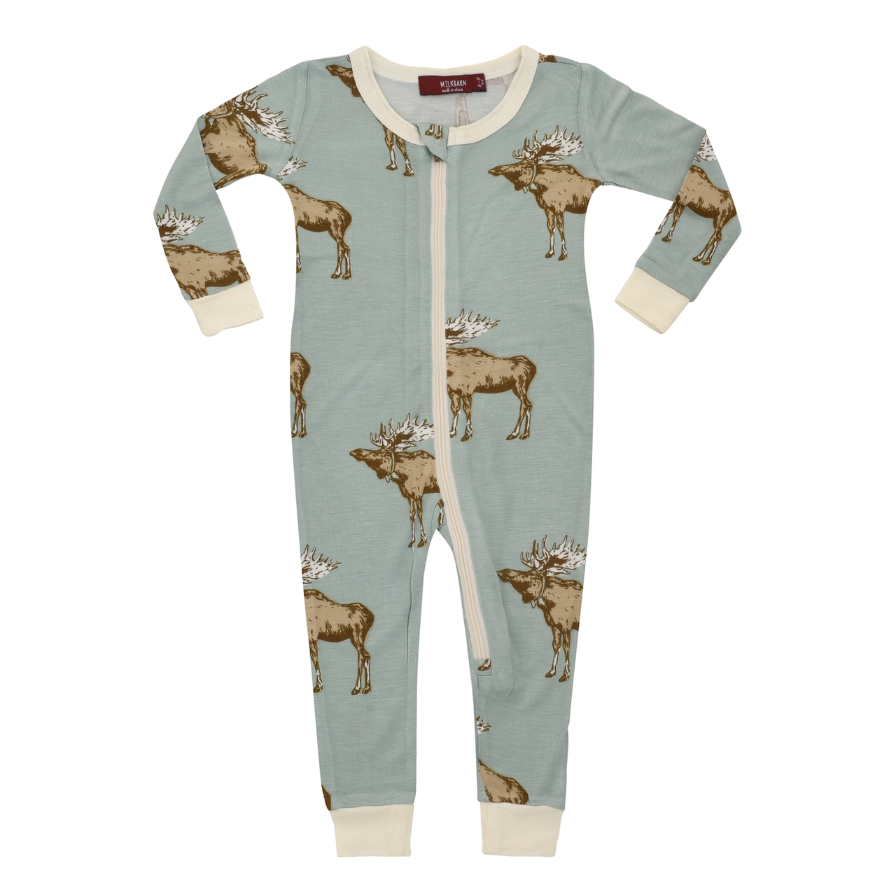 Bamboo Zip Romper Bow Tie Moose Organic Baby Clothes Babies And