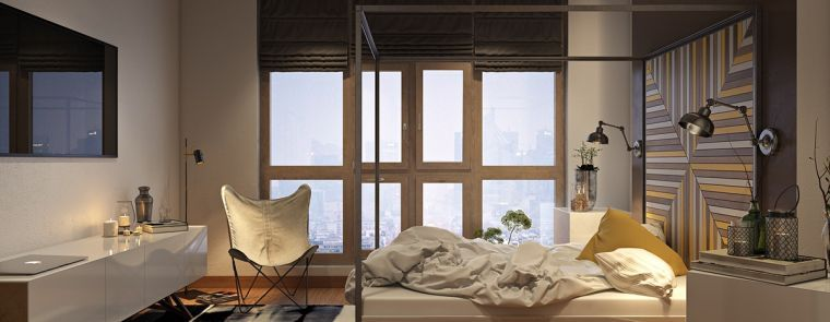 Up to date bedroom: 33 wall design ideas in 2020   Wanden