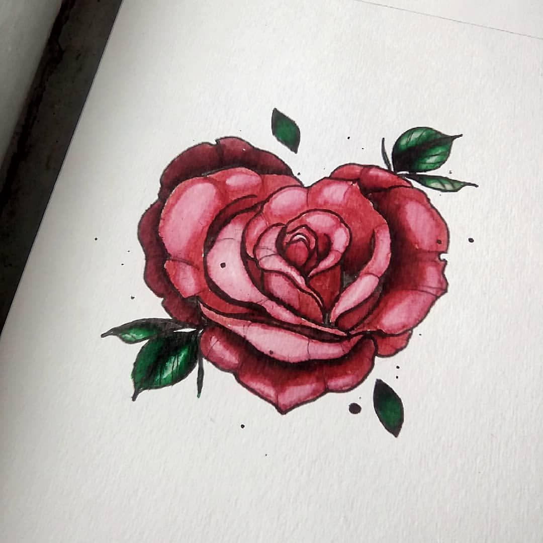 Heart Rose Flower Drawing Roses Drawing Red Rose Tattoo