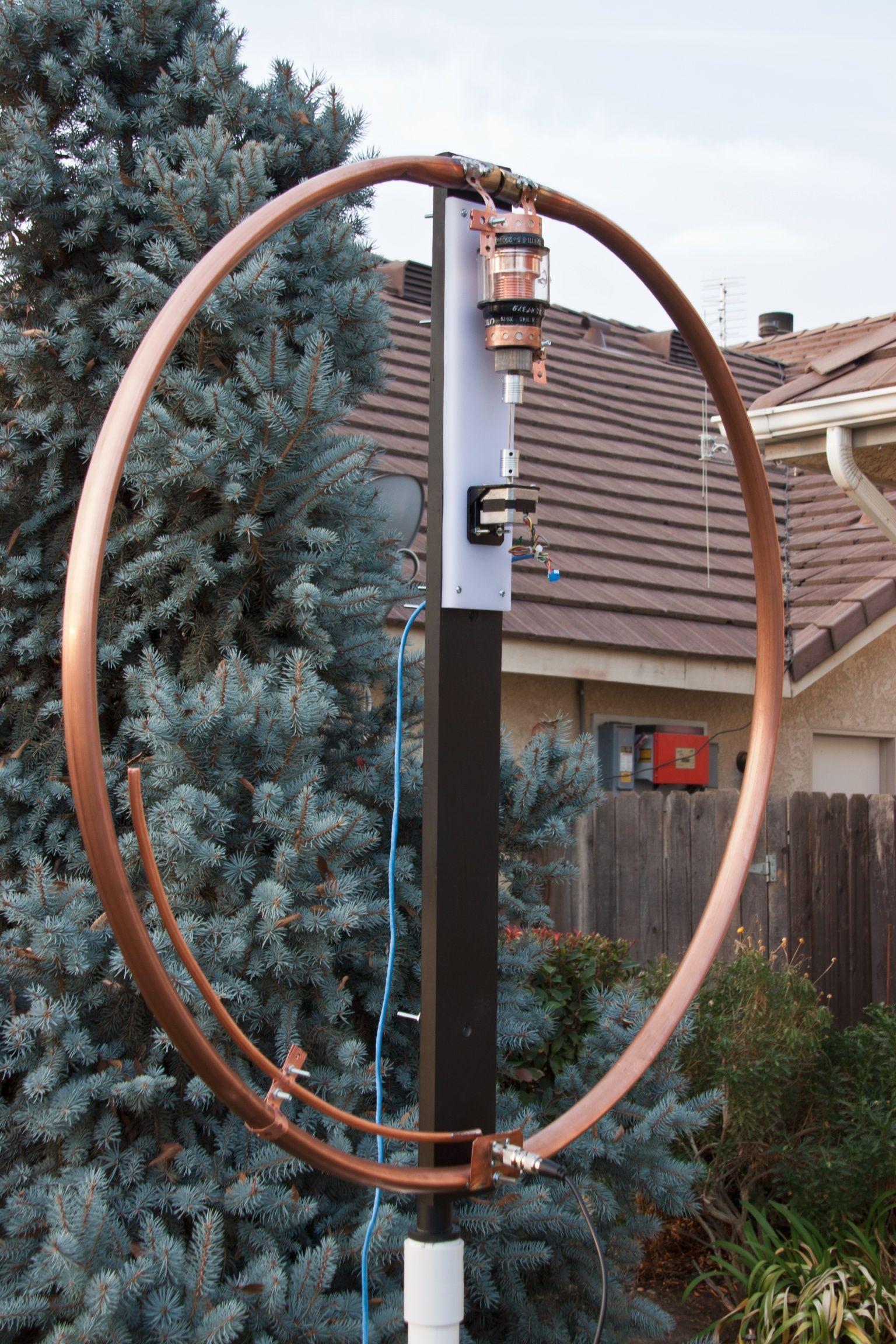 My latest 40-15 meter loop de K0DDR | Small Magnetic Loop Antenna