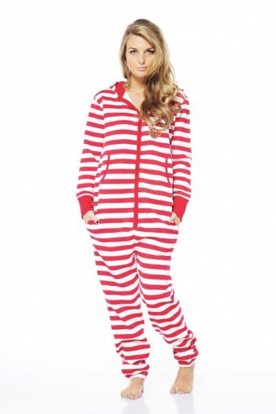 a24738140 Striped Hooded Onesie in Red and White. i need