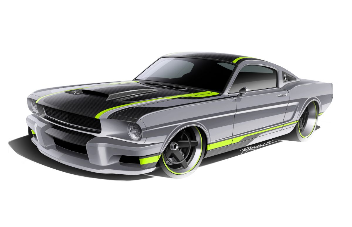 Design renderings for the Ringbrothers' Espionage Mustang ...