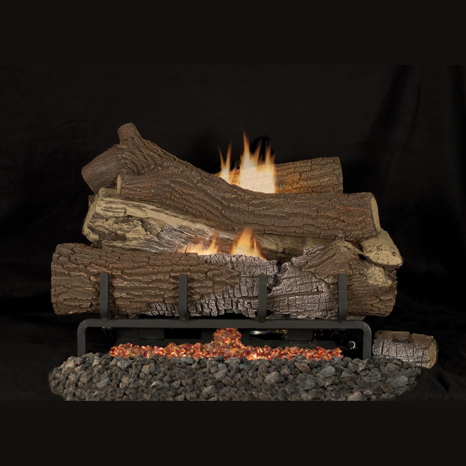 Superior Fireplaces 24 Inch Giant Timbers Gas Log Set With Vent Free Natural Gas Mega Flame Burner On Off Wall Switch Superior Fireplace Gas Logs Gas Fireplace Logs