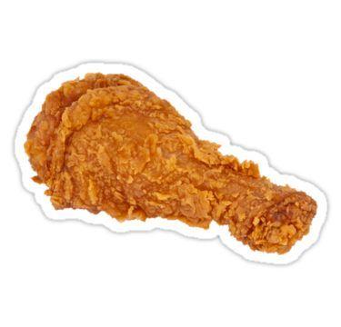 Fried Chicken Wing Sticker By Ladyboner69 En 2021 Iconos De Alimentos Comida Pollo Frito