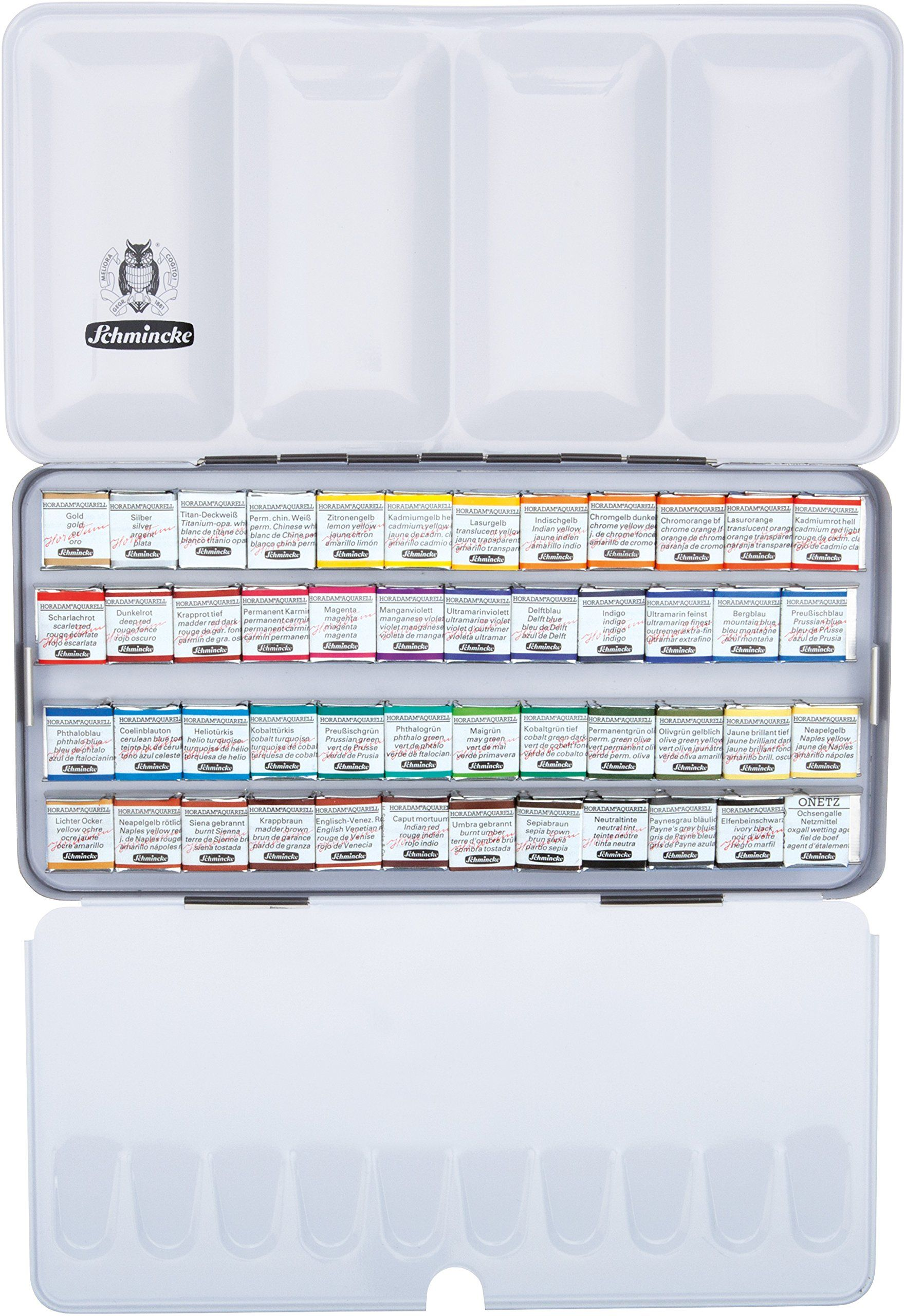 Schmincke Horadam 48 Half Pan Watercolor Set An Aluminum Tin