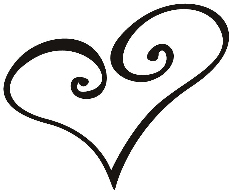 Love heart outline tattoo clipart best clipart best for Black heart outline tattoo meaning